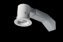 "RAB Lighting RDLED2R8-40YY-TW - REMODELER 2"" ROUND 8W 2700K DIMMABLE TRIAC 40 DEGREES 1/2"" TRIM WHITE RING"