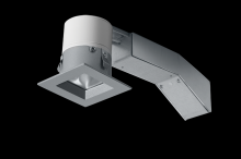 "RAB Lighting RDLED2S8-WYY-TS - REMODELER 2"" SQUARE 8W 2700K DIMMABLE TRIAC WALLWASH 1/2"" TRIM SILVER RING"