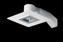 "RAB Lighting RDLED2S8-30YY-TLS - REMODELER 2"" SQUARE 8W 2700K DIMMABLE TRIAC 30 DEGREES TRIMLESS SILVER RING"