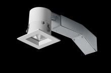 "RAB Lighting RDLED2S8-40YN-TW - REMODELER 2"" SQUARE 8W 3500K DIMMABLE TRIAC 40 DEGREES 1/2"" TRIM WHITE RING"