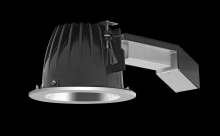 "RAB Lighting RDLED6R20-50Y-S-S - REMODELER 6"" ROUND 20W 3000K DIM TRIAC 50 DEGREES SPECULAR CONE SILVER RING"