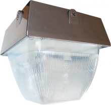 "RAB Lighting VAN5HH100QTW/PC - VANDALPROOF 12"" X 12"" CEILING 100W MH QT + 120V PC BRONZE"