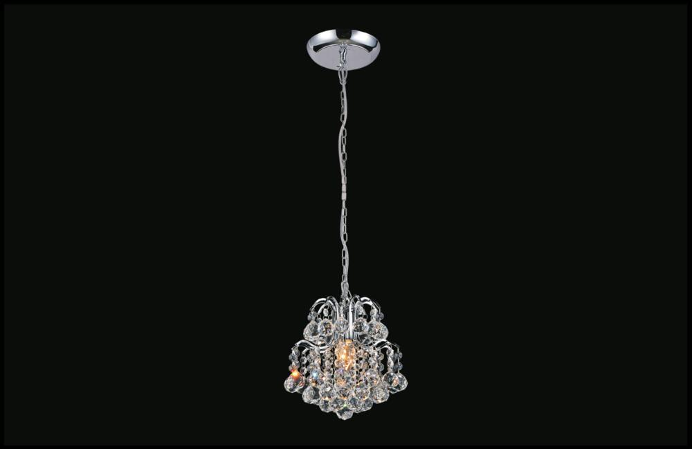 1 Light Chrome Mini Chandelier from our Blossom collection