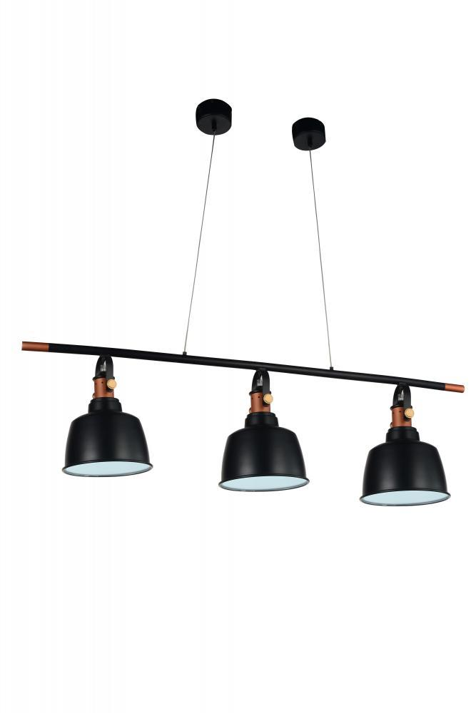 Coastal Lighting & Supply in Chesapeake, Virginia, United States,  306676C, 3 Light Black Pool Table Light from our Tower Bell collection, Tower Bell