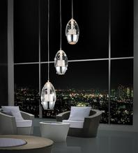 Crystal World 5077P10C-R - 3 Light Chrome Multi Light Pendant from our Perrier collection