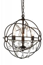 Crystal World 5465P13-DB-3 - 3 Light Brown Up Mini Chandelier from our Campechia collection