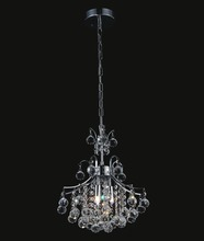 Crystal World 8012P12C - 3 Light Chrome Mini Chandelier from our Princess collection