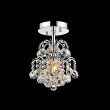 Crystal World 8015C9C-R - 1 Light Chrome Flush Mount from our Blossom collection