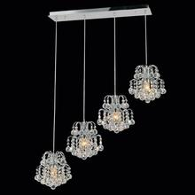 Crystal World 8015P33C-RC - 4 Light Chrome Multi Light Pendant from our Blossom collection