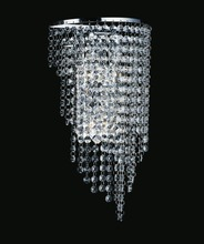 Crystal World 8024W9C - 3 Light Chrome Wall Light from our Prism collection