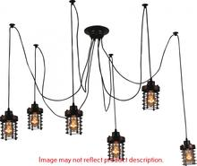 Crystal World 9607P28-6-101 - 6 Light Black Multi Light Pendant from our Bray collection