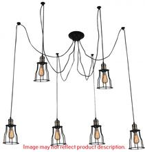 Crystal World 9609P33-6-126 - 6 Light Chocolate Multi Light Pendant from our Graham collection