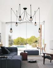 Crystal World 9610P28-6-101 - 6 Light Black Multi Light Pendant from our Tomaso collection