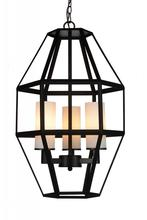 Crystal World 9668P14-3-S-101 - 3 Light Black Candle Pendant from our Cell collection