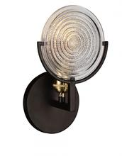 Crystal World 9909W6-1-192 - 1 Light Black Wall Light from our Bhima collection
