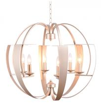Crystal World 9950P26-6-221 - 6 Light Pewter   Chandelier from our Verbena collection