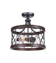 Crystal World 9966C16-3-242 - 3 Light Gun Metal Cage Semi-Flush Mts from our Amazon collection