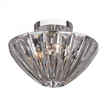 Sterling Industries 144-027 - Three Light Chrome Bowl Semi-Flush Mount