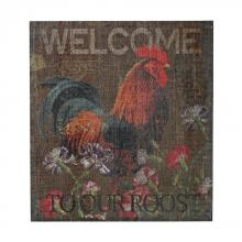 Sterling Industries 26-8676 - Welcome Cockrel-Welcome To Our Roost Hand Paint On Wood
