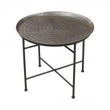 Sterling Industries 3200-009 - Embossed Pewter Accent Table