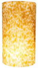 American Lighting GC-A-WA - LED PENDANT GLASS, TALL CYLINDER SHAPE, ABSTRACT WHITE AND AMBER - PENDANT LIGHT SOLD SEPARATELY