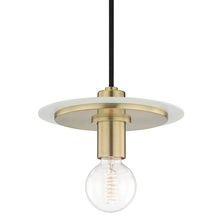 Hudson Valley H137701S-AGB/WH - 1 Light Small Pendant