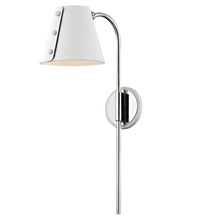 Hudson Valley HL174201-PN/WH - 1 Light Wall Sconce With Plug