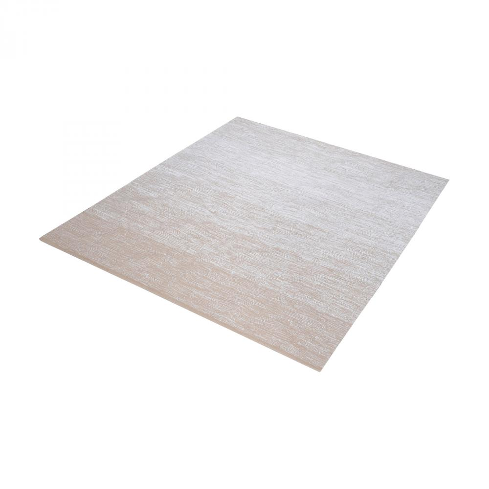 Delight Handmade Cotton Rug In Beige And White -