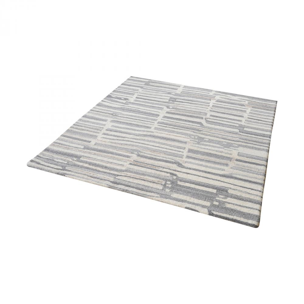 Coastal Lighting & Supply in Chesapeake, Virginia, United States,  7718J, Slate Handtufted Wool Rug In Grey And White - 16, Slate