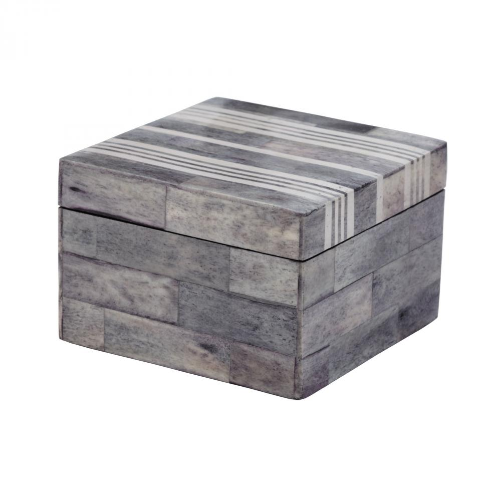 Gray And White Bone Boxes - Small