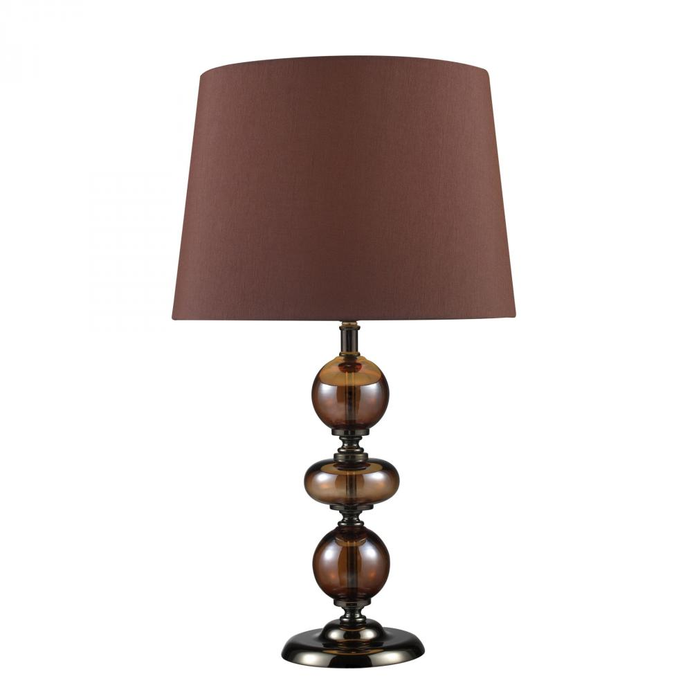 Coastal Lighting & Supply in Chesapeake, Virginia, United States,  6UQNV, Dravos Table Lamp In Bronze And Coffee Plating With Chocolate Shade, Dravos
