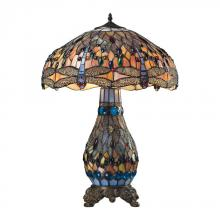 Dimond 72079-3 - Dragonfly Tiffany Glass Table Lamp in Tiffany Bronze