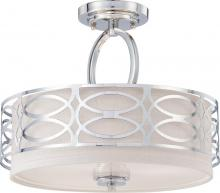 Nuvo 60/4629 - Harlow 3 Light Semi-Flush