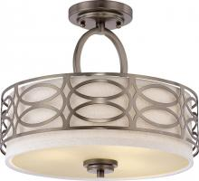 Nuvo 60/4729 - Harlow 3 Light Semi-Flush