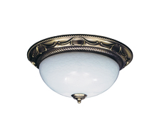 Framburg 8410 FB - 3-Light French Brass Napoleonic Flush / Semi-Flush Mount