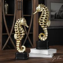 Uttermost 20640 - Uttermost Metallic Sea Horse Sculpture S/2