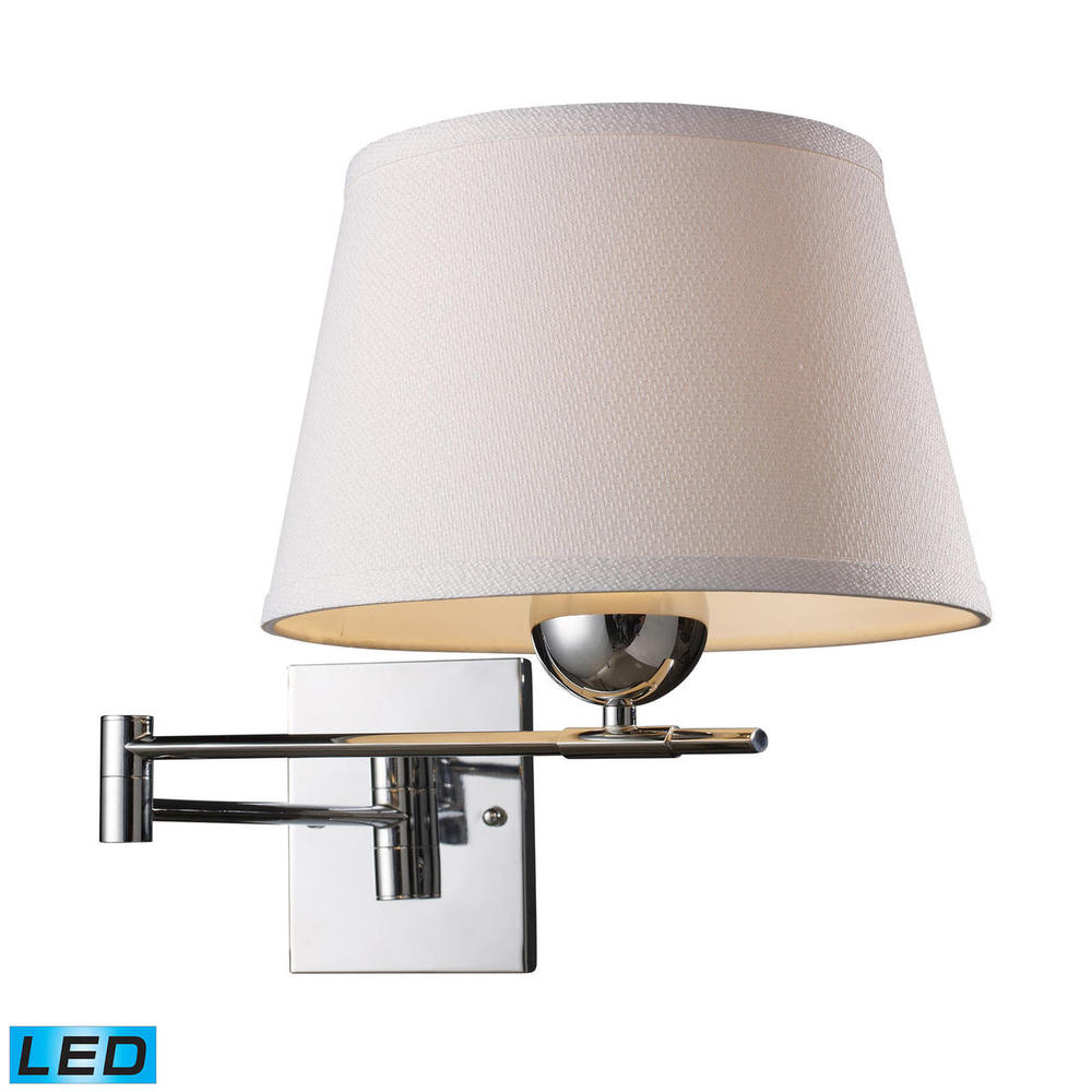Coastal Lighting & Supply in Chesapeake, Virginia, United States,  K54Q, Lanza 1 Light LED Swing Arm Sconce In Polished C, Lanza