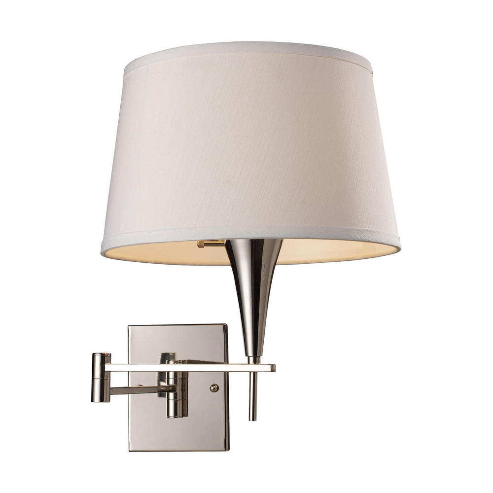 Swingarms 1 Light Swingarm Sconce In Polished Ch