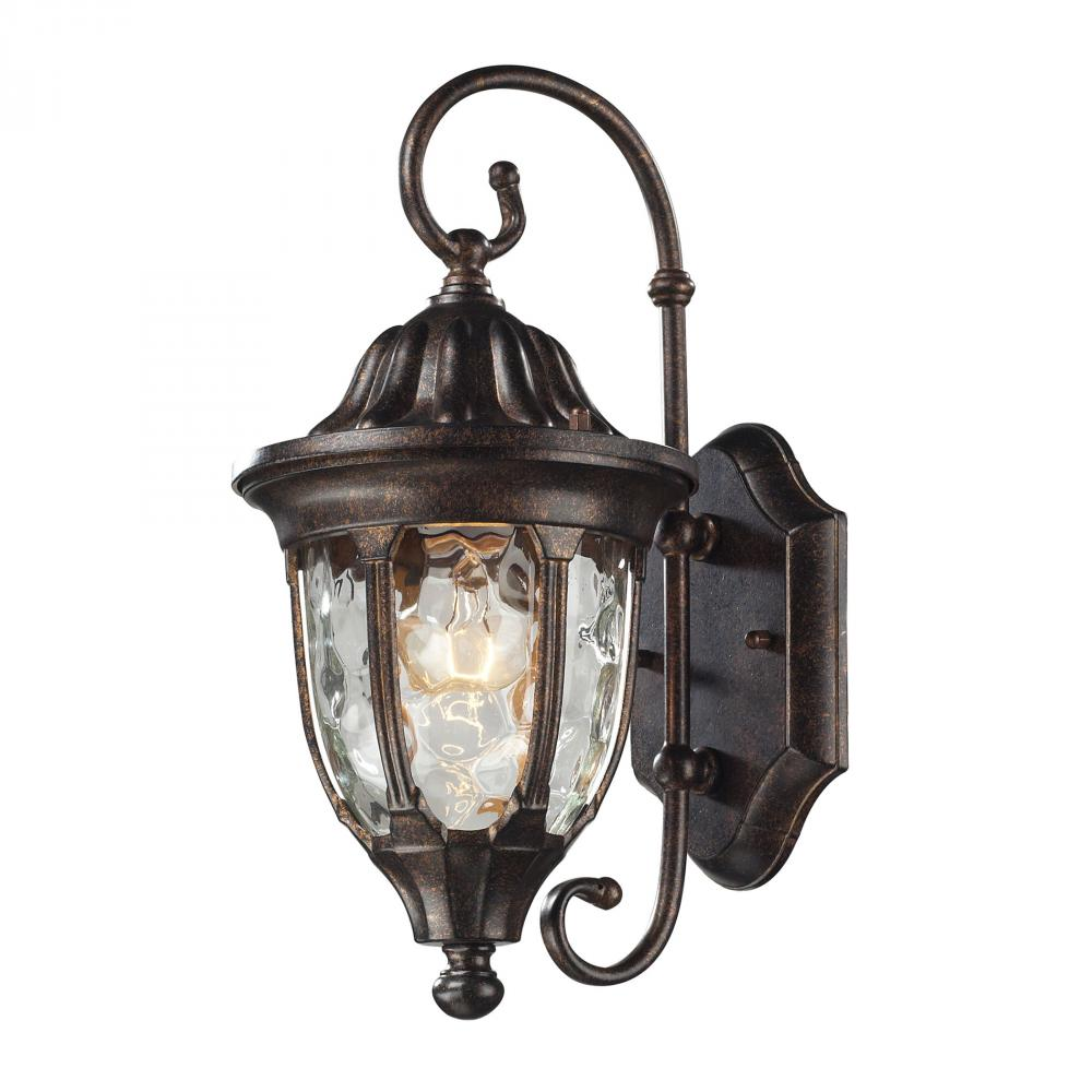 Glendale 1 Light Outdoor Wall Sconce In Regal Br