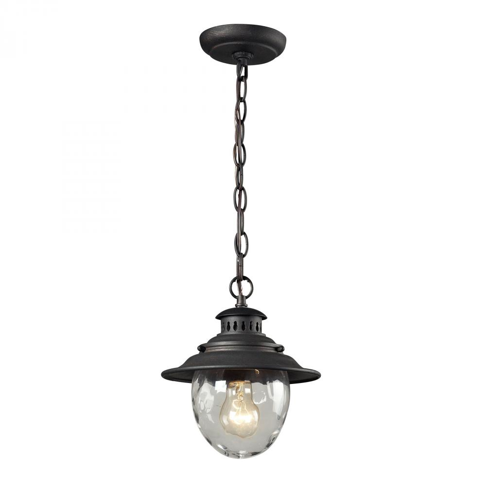Searsport 1 light Outdoor Pendant In Weathered C