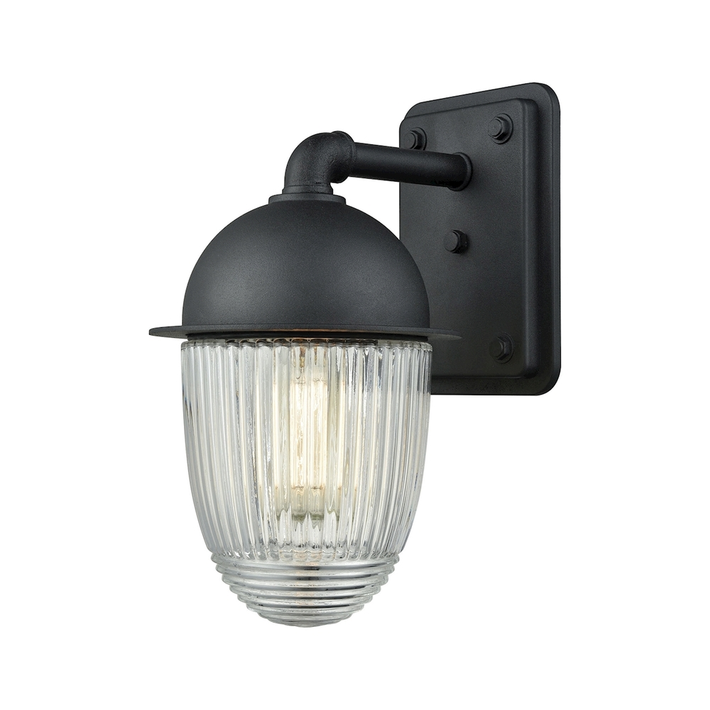 Coastal Lighting & Supply in Chesapeake, Virginia, United States,  9Q445, Channing 1 Light Outdoor Wall Sconce In Matte Bl, Channing