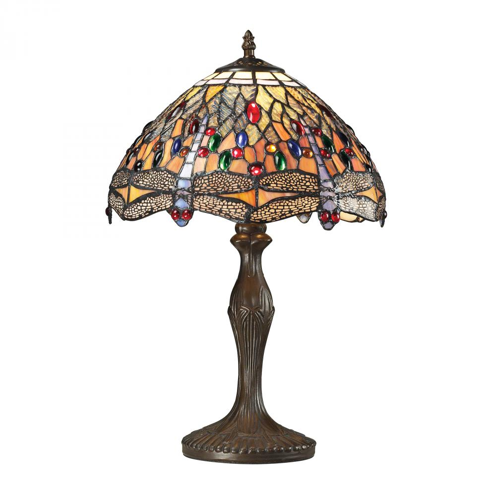 Coastal Lighting & Supply in Chesapeake, Virginia, United States,  VE0T, Dragonfly Tiffany Glass Table Lamp in Tiffany Br, Dragonfly