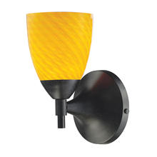 ELK Lighting 10150/1DR-CN - Celina 1 Light Sconce In Dark Rust And Canary Gl