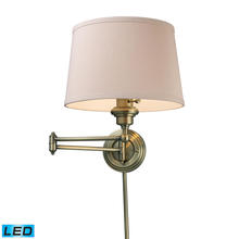 ELK Lighting 11220/1-LED - Westbrook 1 Light LED Swingarm Sconce In Antique