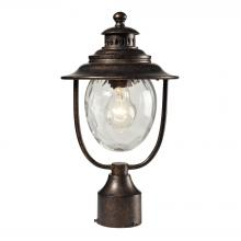 ELK Lighting 45032/1 - Searsport 1 Light Outdoor Post Lamp In Regal Bro