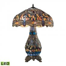 ELK Lighting 72079-3-LED - Dragonfly 3 Light LED Table Lamp In Dark Bronze