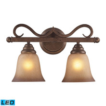 ELK Lighting 9321/2-LED - Lawrenceville 2 Light LED Vanity In Mocha With A