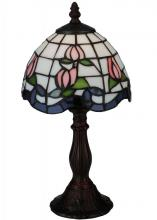 "Meyda Tiffany 139081 - 14""H Roseborder Mini Lamp"
