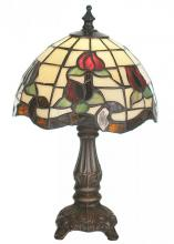 "Meyda Tiffany 19189 - 11.5""H Roseborder Mini Lamp"